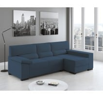 Color plata Sofa Chaiselongue Yoel - Cuarto de estar